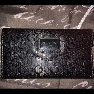 Black Leather Guess Wallet